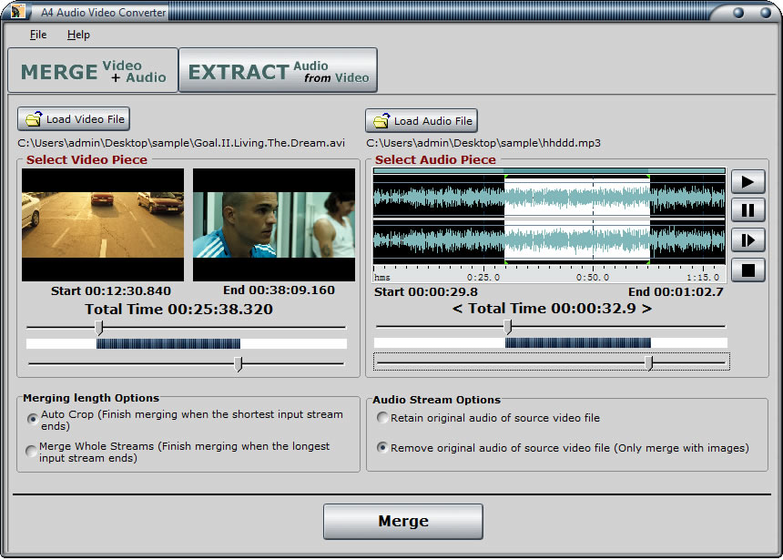 Click to view A4 Audio Video Converter screenshots